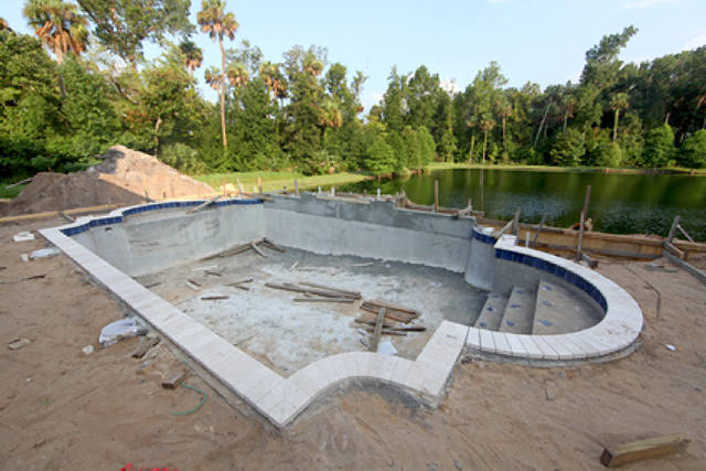Install Pool Coping